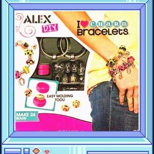 "NWOT ""Alex Toys"" DIY Wear: I Heart Charm Bracelets"